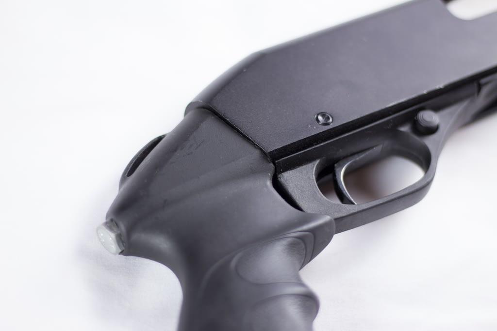 Stevens 320 pistol grip detail
