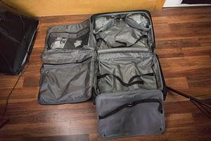 TravelPro Garment Bag Opened