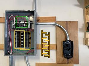 tesla install sub panel box explanation diagram