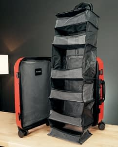 Solgaard carry on review vertical closet view