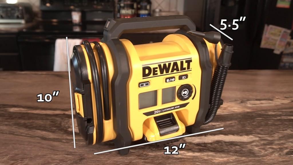 Best Portable Tire Inflator Dewalt Measurements