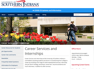 usi campus career service center website