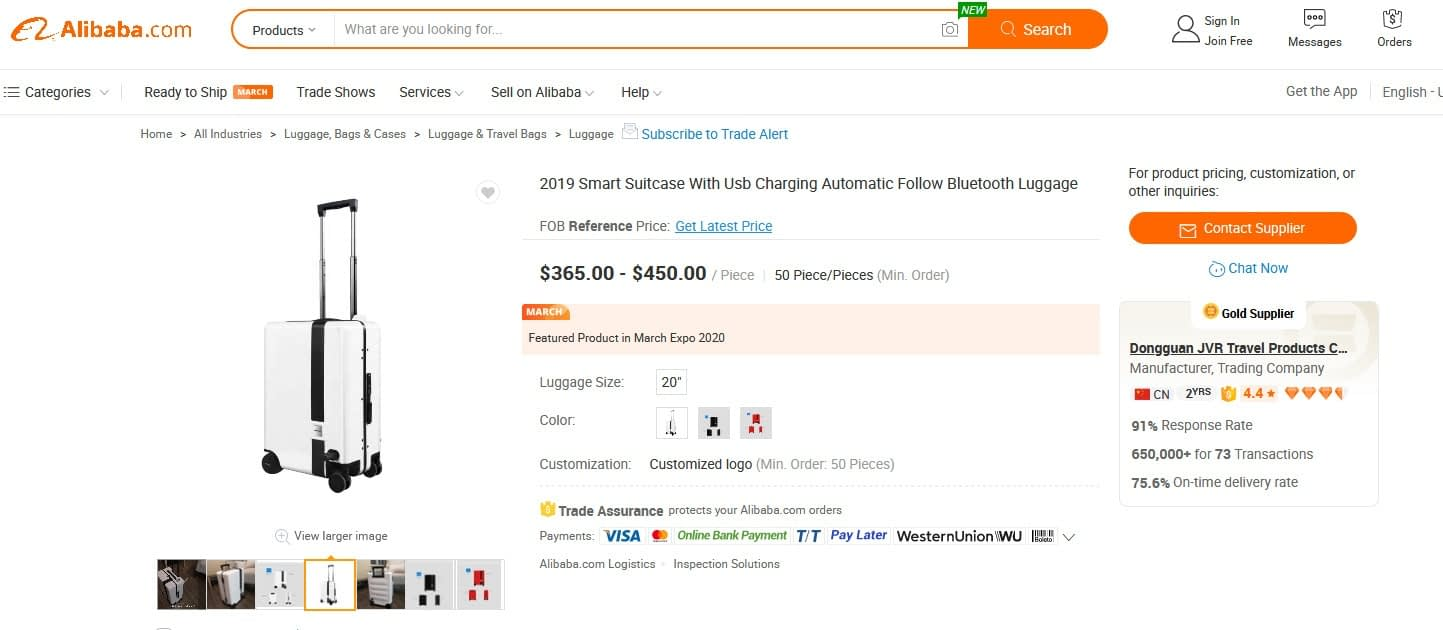 Naucrates Alibaba.com Screenshot