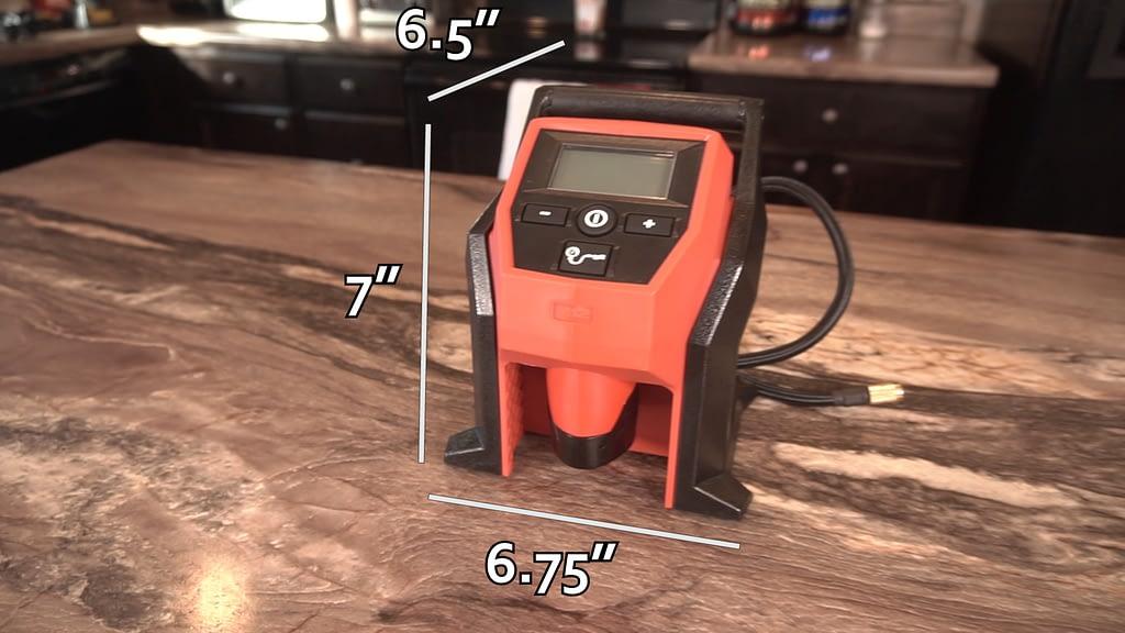 Best Portable Tire Inflator Milwaukee Measurements