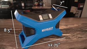 Best Portable Tire Inflator Kobalt Measurements