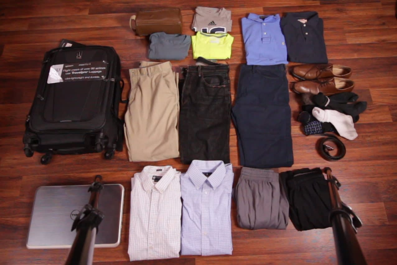 What will fit in a delsey or travelpro