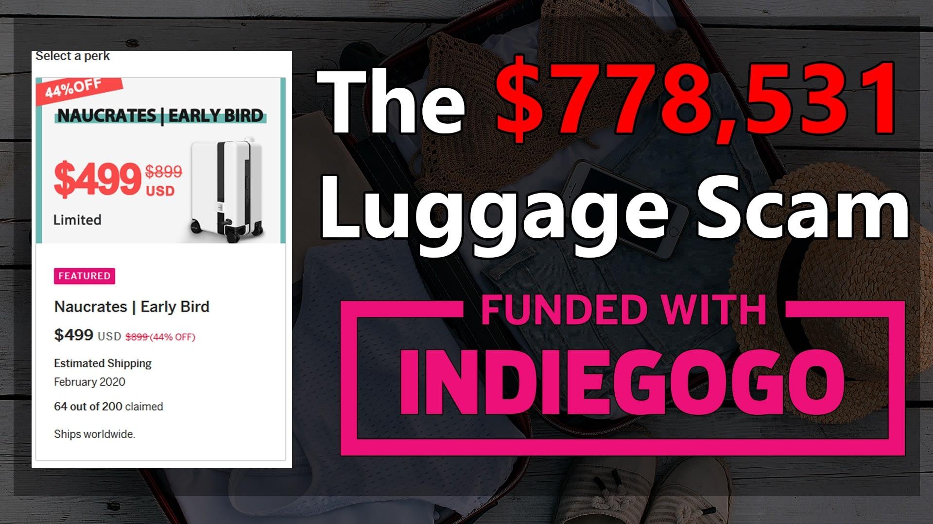 Naucrates Smart Luggage Scam
