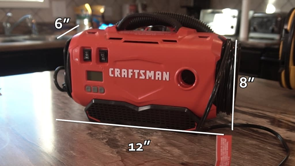Best Portable Tire Inflator Craftsman Measurements